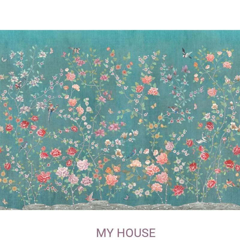 Фреска Цветариум,  Chinese garden Affresco