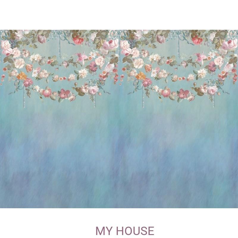 Фреска Цветариум,  Flowers on ribbon Affresco