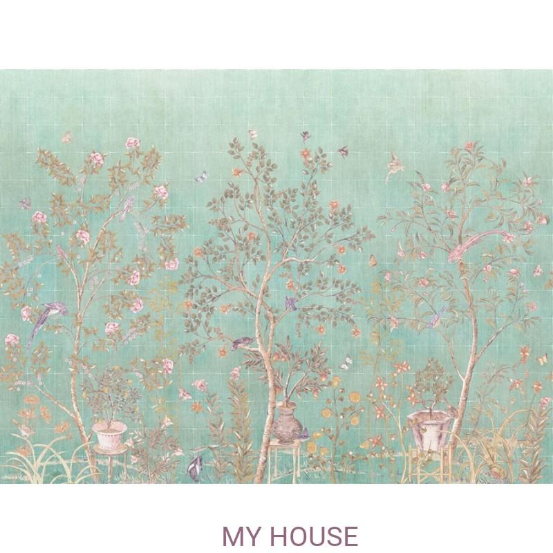 Фреска Цветариум,  Garden Paradise  Affresco