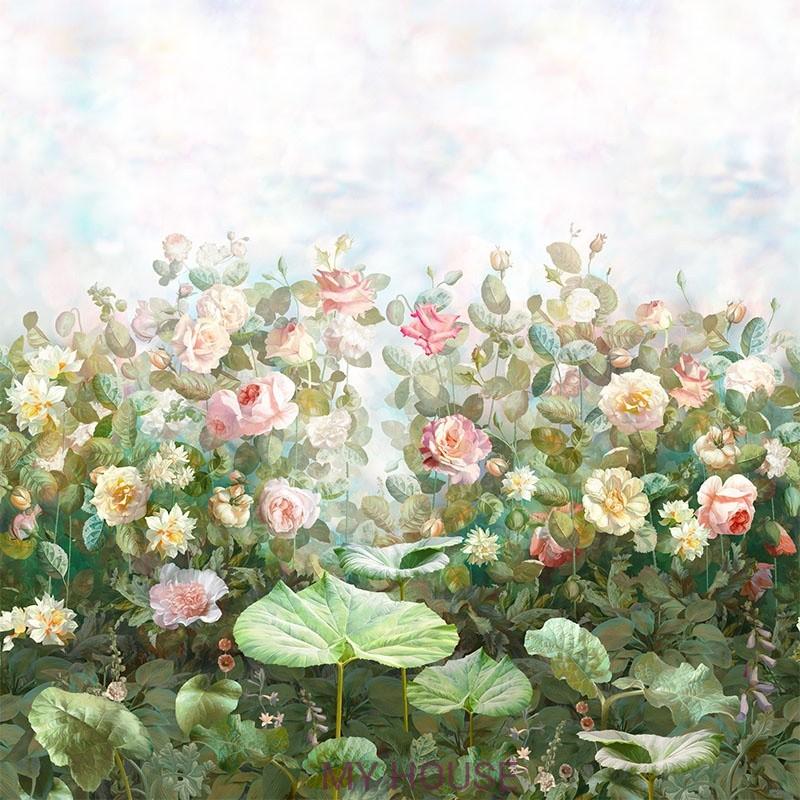 Фреска Цветариум,  Rose garden Affresco