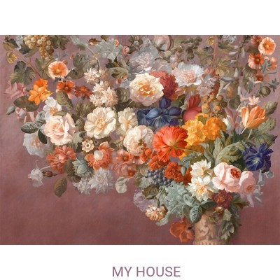 Фреска Цветариум,  Still Life with Flowers Affresco