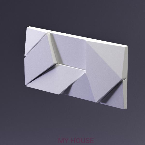 Гипсовая 3D панель Elementary Origami