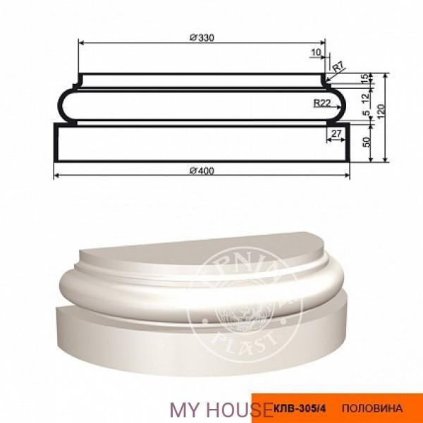 Полуколонна  КЛВ-305/4 база (120х200х400)