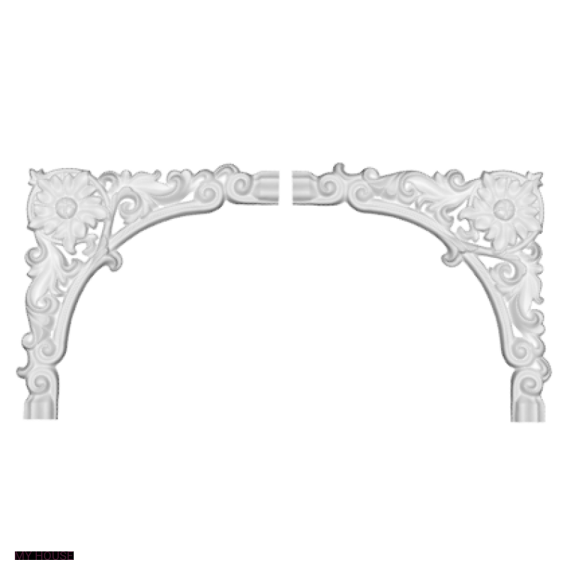 Лепнина угловые элементы 1-52-375 производства ЕВРОПЛАСТ
