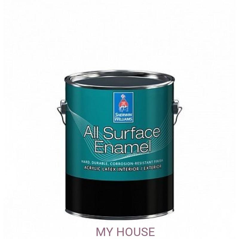 Эмали для дерева и лепнины / Краски по металлу  All Surface Enamel Satin кварта (0,95 л)