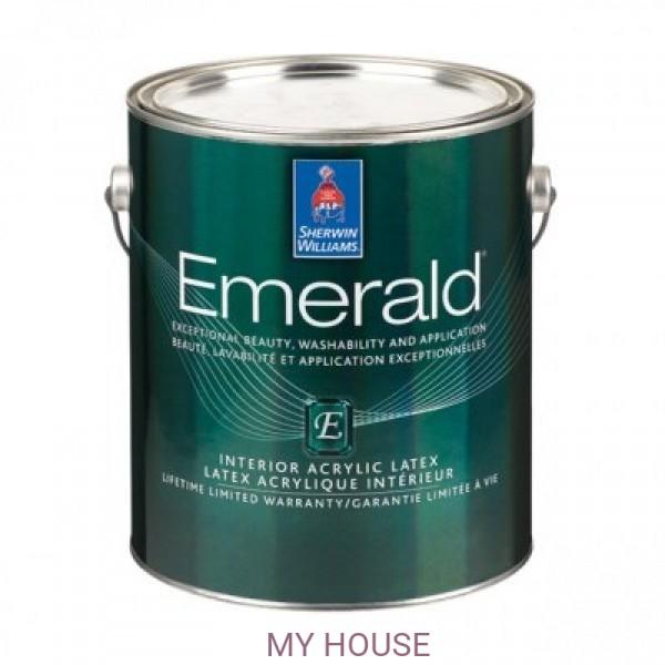 Глубокоматовая износостойкая интерьерная краска для стен Emerald Interior Flat галлон (3,8л)