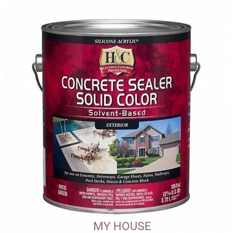 Краски для пола (бетон, камень)  H&C Silicone Acrylic Sealer Clear акриловая пропитка по камню га