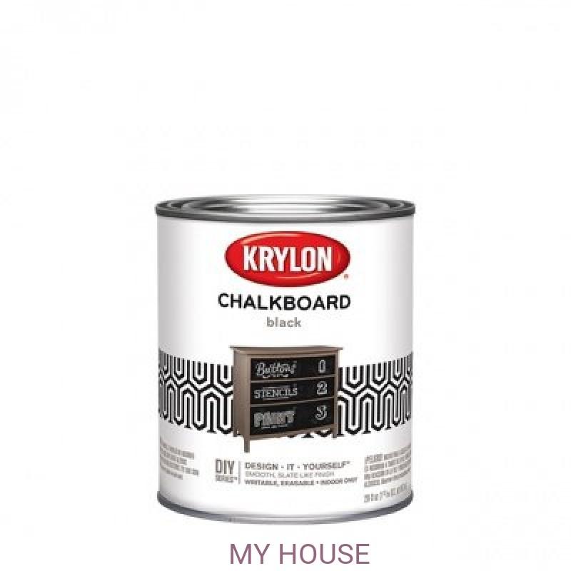 Краски с эффектом школьной доски  Krylon Chalkboard Paint кварта (0,95л)