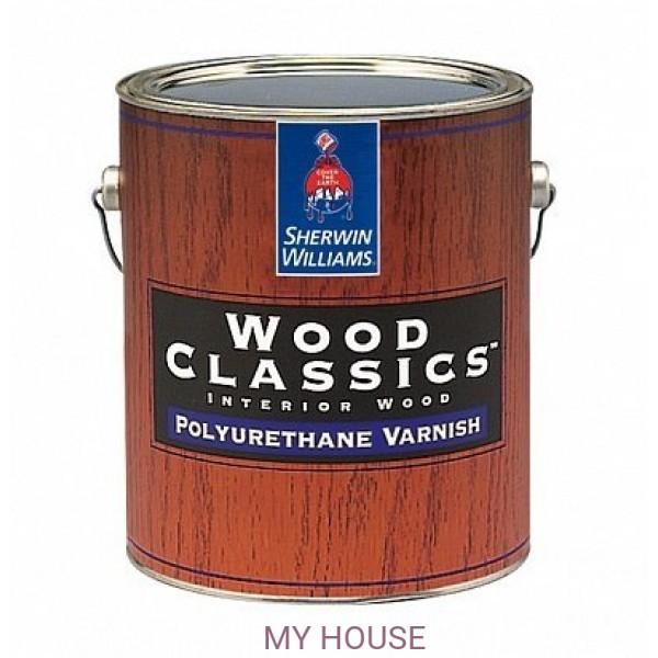 Глянцевый полиуретановый лак для пола Wood Classic Polyuretane Varnish Gloss 3,8л