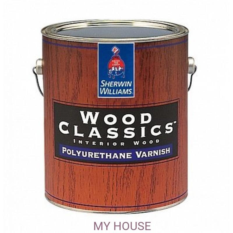 Лаки и пропитки для пола и мебели (для внутренних работ)  Wood Classic Polyuretane Varnish Satin лак сатин галлон