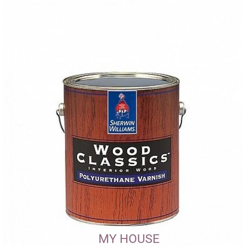 Лаки и пропитки для пола и мебели (для внутренних работ)  Wood Classic Polyuretane Varnish Satin лак сатин кварта