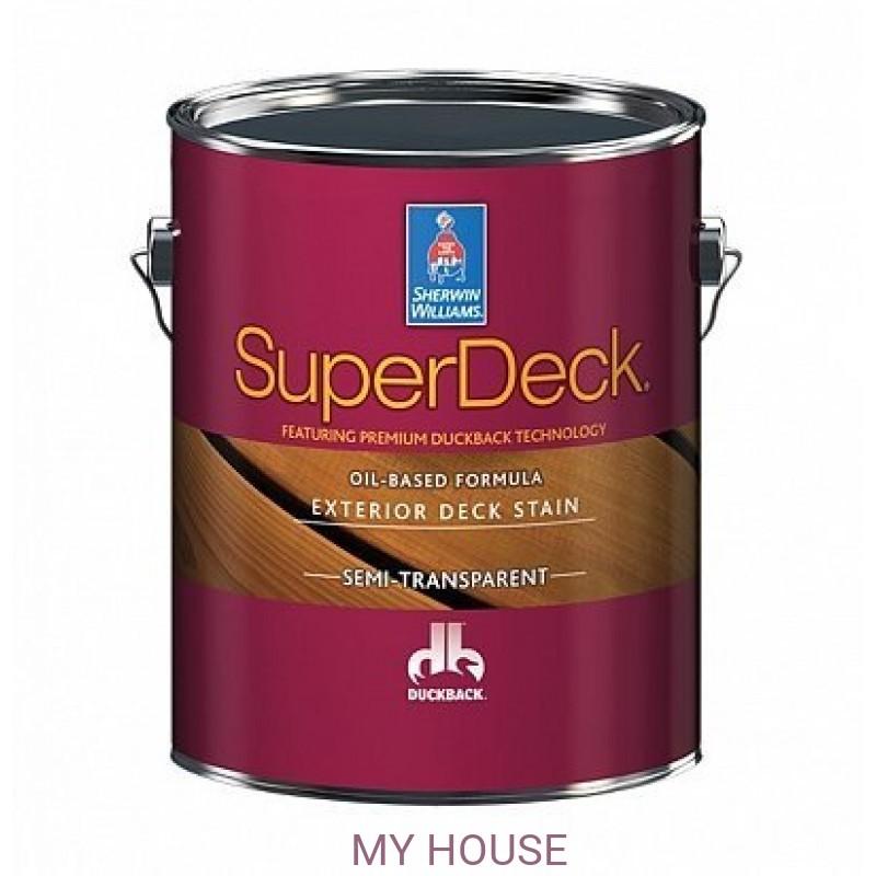 Пропитки (морилки) для дерева экстерьерные  Super Deck Oil-based Semi-Transp. stain масло галлон