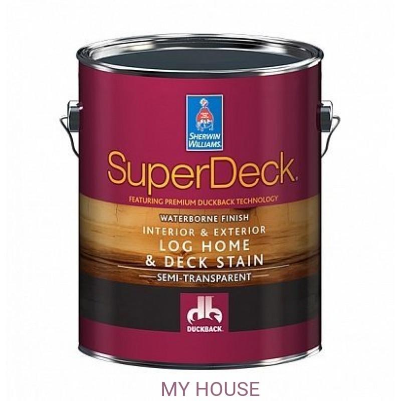 Пропитки (морилки) для дерева экстерьерные  SuperDeck Log Home&Deck Stain пропитка галлон