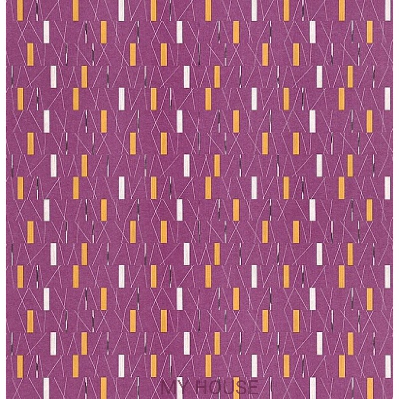Обои 50s Collection 210204 Wrappings - Mauve/Gold Sanderson