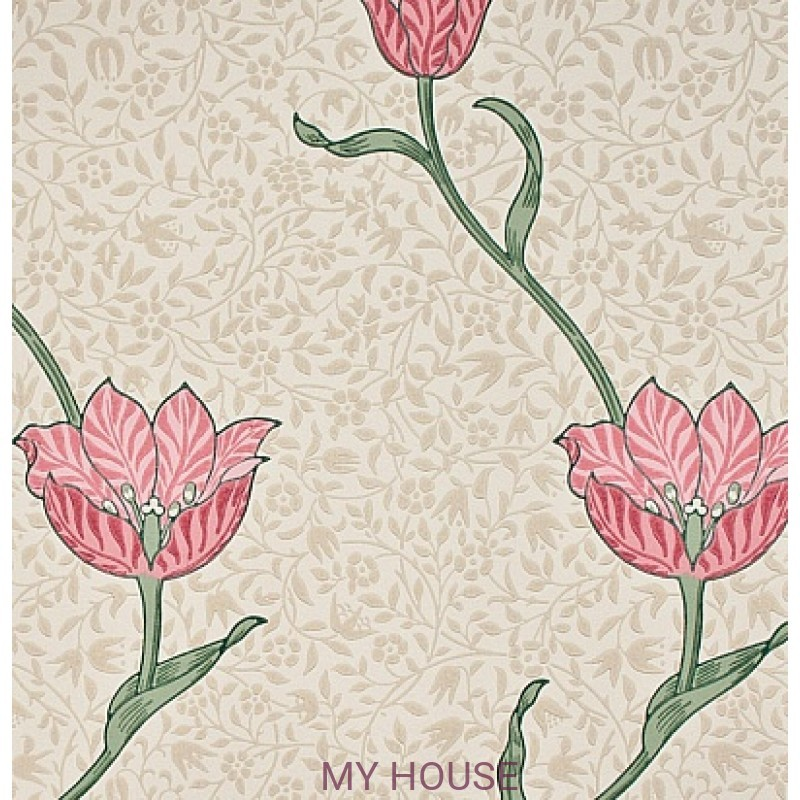 Обои Morris Archive Wallpapers 210391 Garden Tulip Morris&Co