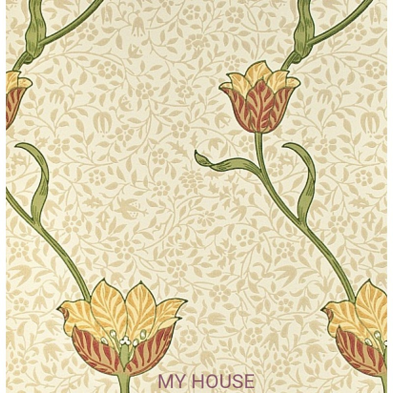 Обои Morris Archive Wallpapers 210392 Garden Tulip Morris&Co