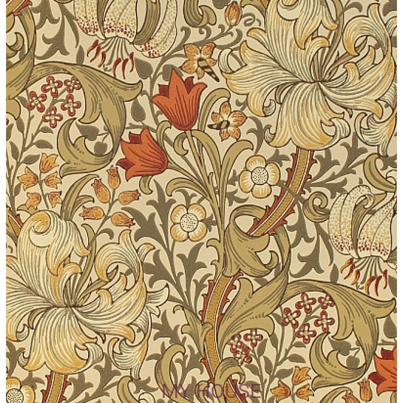 Обои Morris Archive Wallpapers 210400 Golden Lily Morris&Co