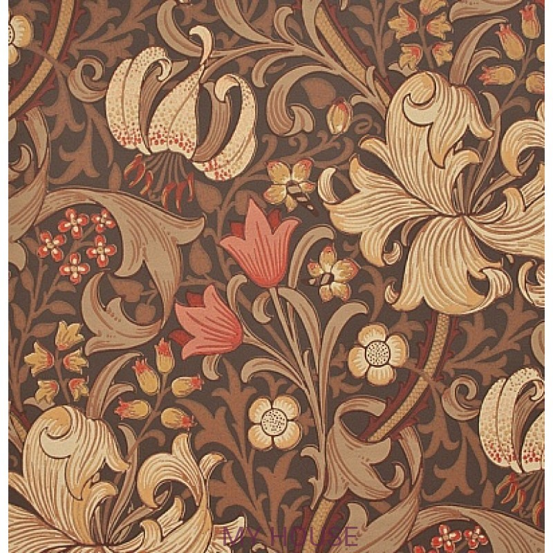Обои Morris Archive Wallpapers 210402 Golden Lily Morris&Co