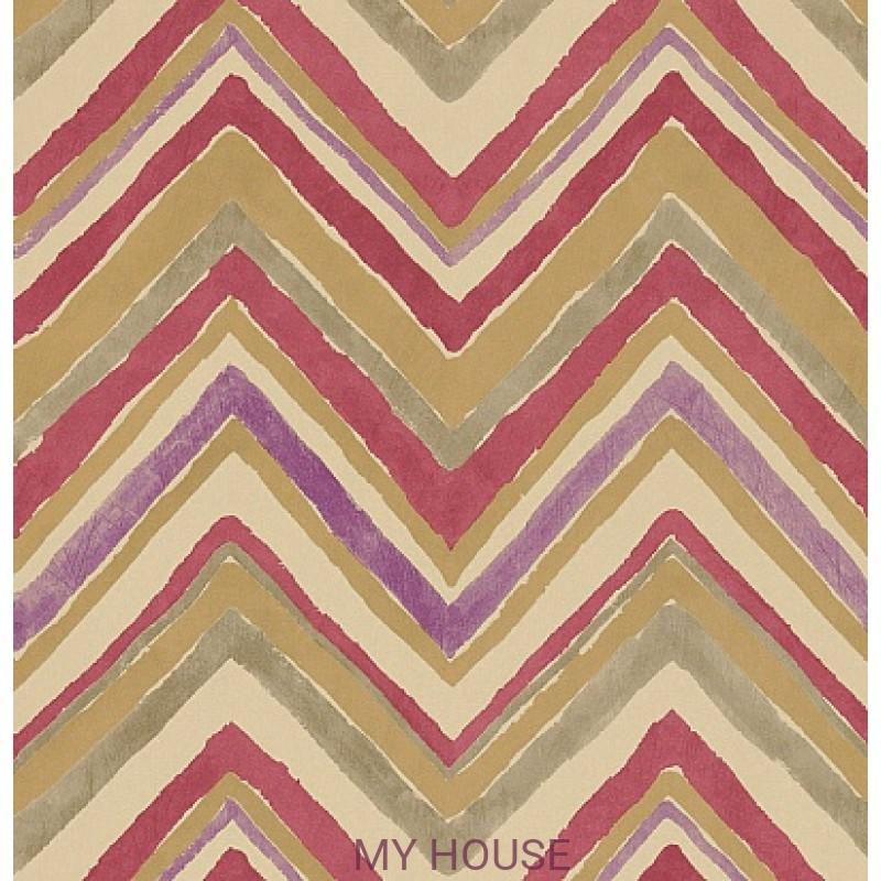 Обои Bloomsbury 211073 Zigzag Purple/Red Sanderson