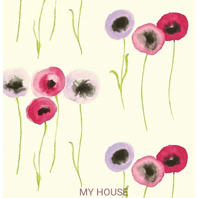 Обои Colour For Living 211664 Poppies Pink/Mauve Sanderson