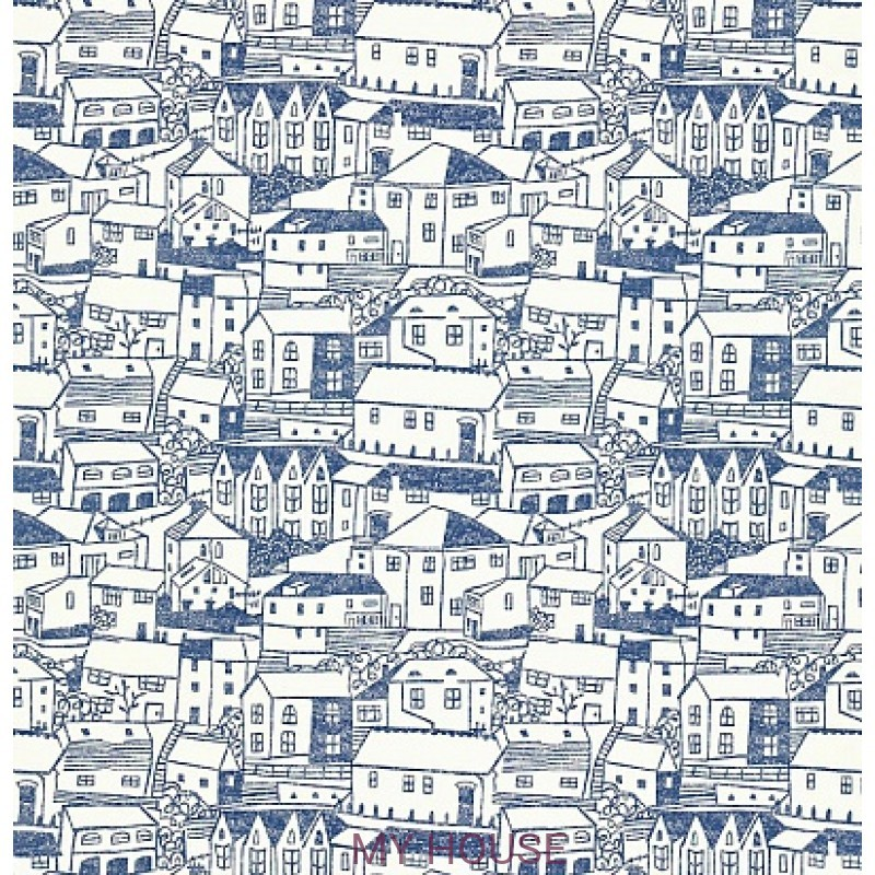 Обои Colour For Living 211673 St Ives Indigo/Ivory Sanderson