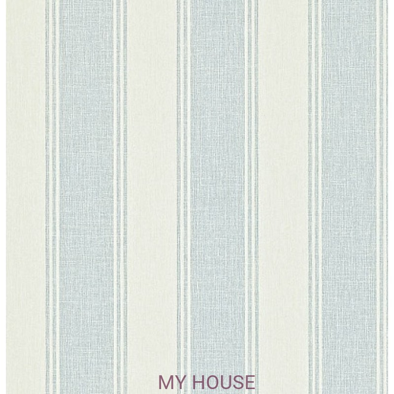 Обои Maycott 211974 Addison Stripe - Blue/Cream Sanderson