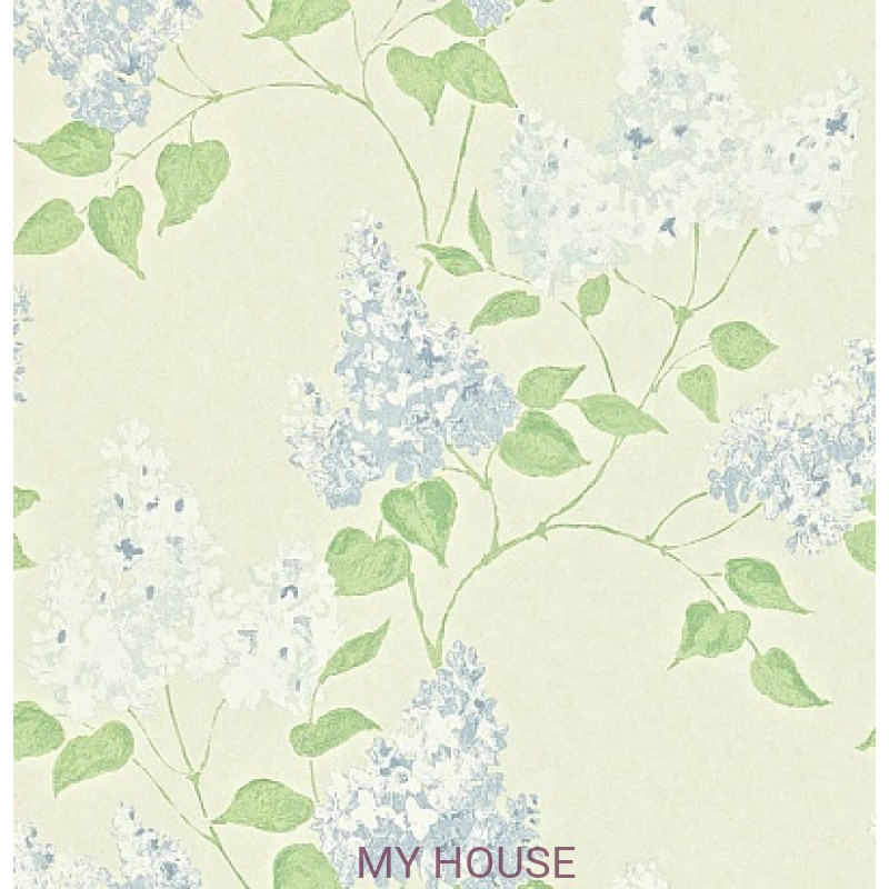 Обои Maycott 211984 Lilacs - Cream/China Blue Sanderson