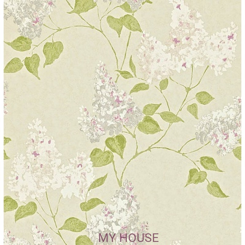 Обои Maycott 211986 Lilacs - Linen/Lilac Sanderson