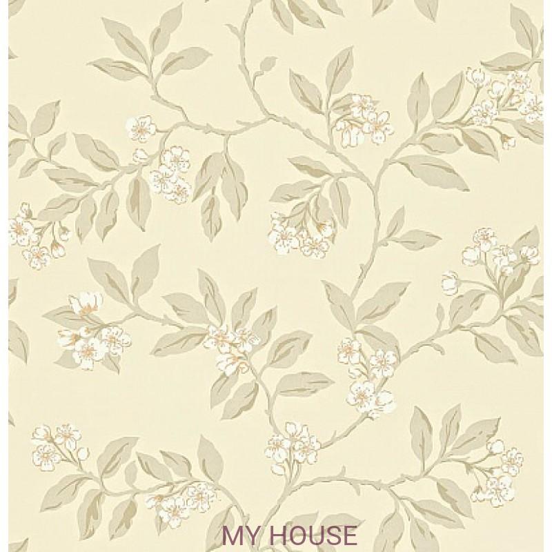 Обои Maycott 211994 Blossom Bough - Linen/Steel Sanderson