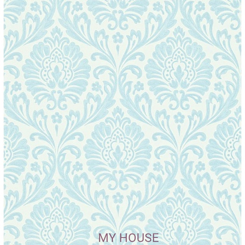 Обои Maycott 211999 Ashby Damask - China Blue/Ivory Sanderson
