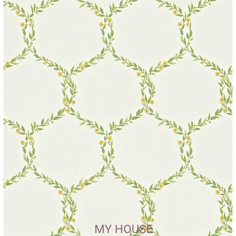 Обои Maycott 212008 Fleur Trellis - Emerald/Primrose Sanderson