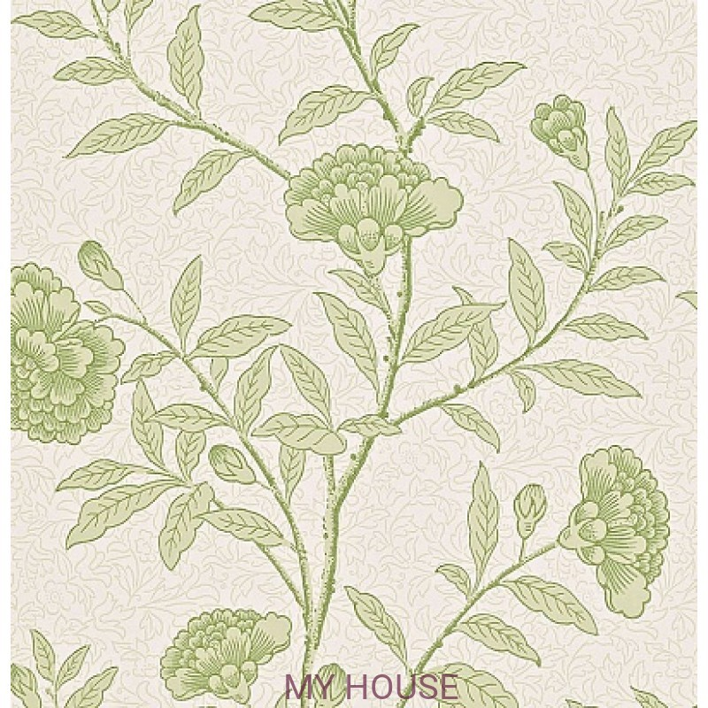 Обои Richmond Hill 212134 Chinese Peony Pale Olive Sanderson