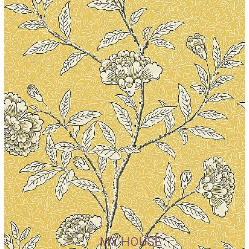 Обои Richmond Hill 212135 Chinese Peony Yellow Sanderson