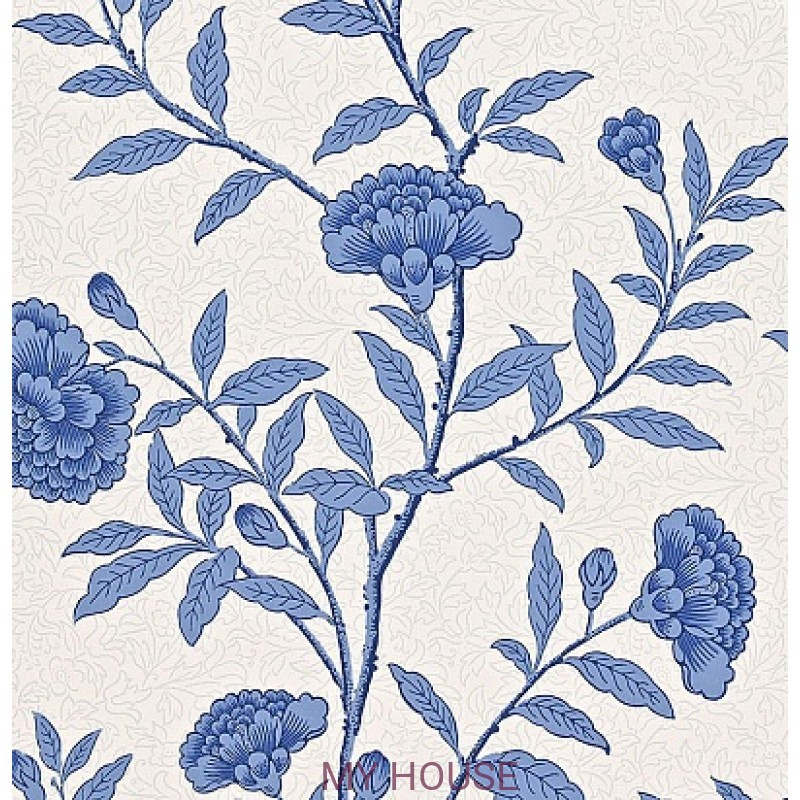 Обои Richmond Hill 212136 Chinese Peony Blue Sanderson