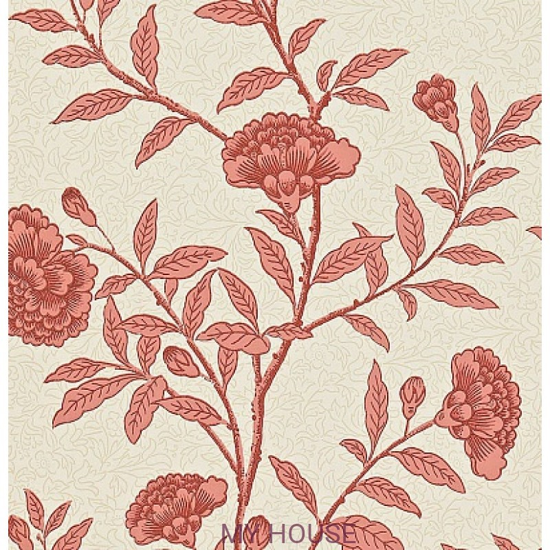 Обои Richmond Hill 212137 Chinese Peony Red Orchid Sanderson