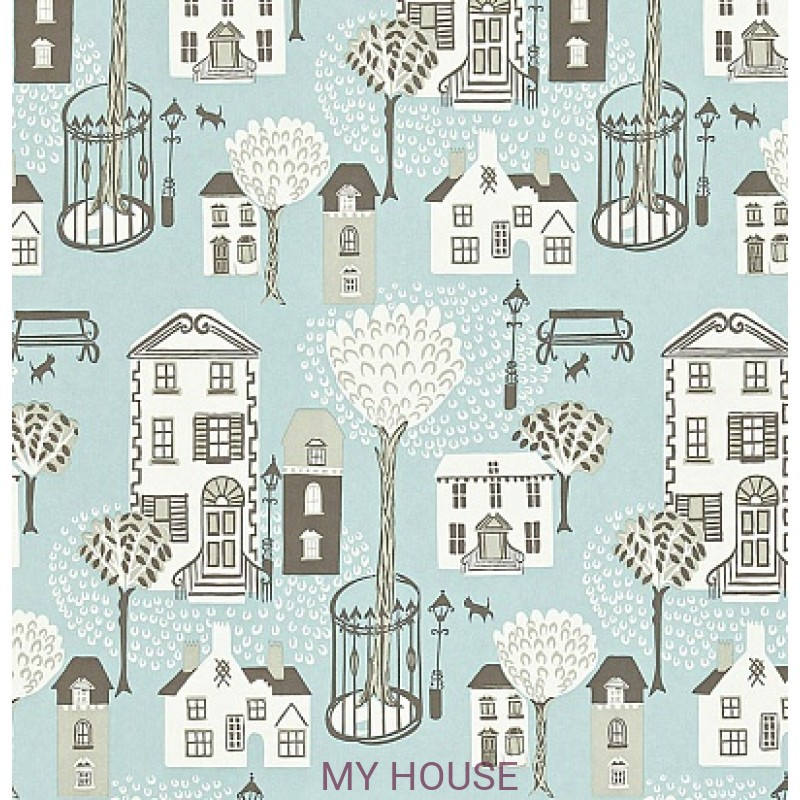 Обои Options 11 212444 Jubilee Square Sky Blue Sanderson