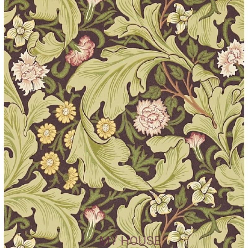 Обои Morris Archive II 212542 Leicester Chocolate/Olive Morris&a
