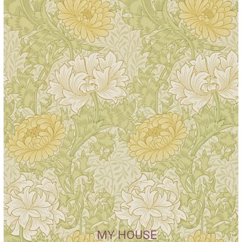 Обои Morris Archive II 212545 Chrysanthemum Pale Olive Morris&am