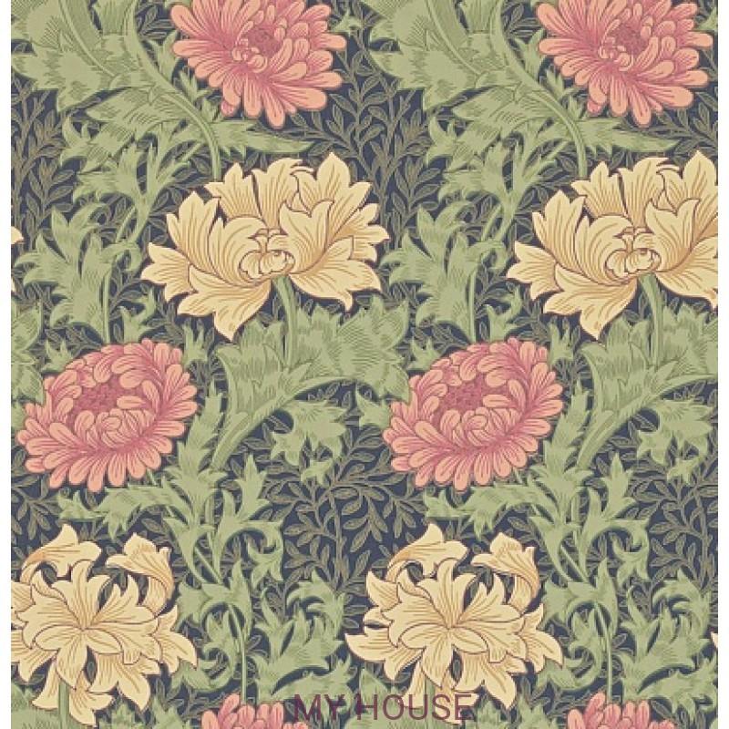 Обои Morris Archive II 212549 Chrysanthemum Indigo Morris&Co