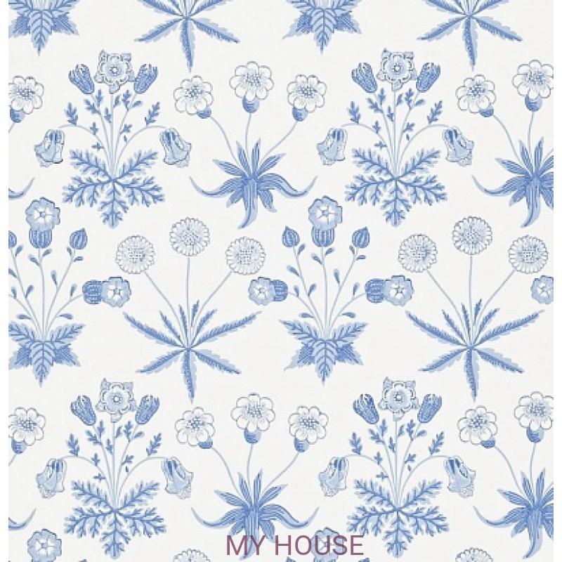 Обои Morris Archive II 212561 Daisy Blue/Ivory Morris&Co
