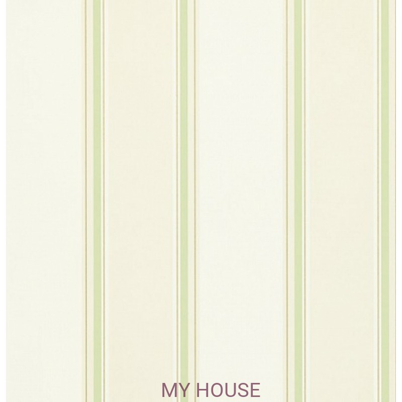 Обои Madison 212827 Madison Stripe Neutral/Green Sanderson