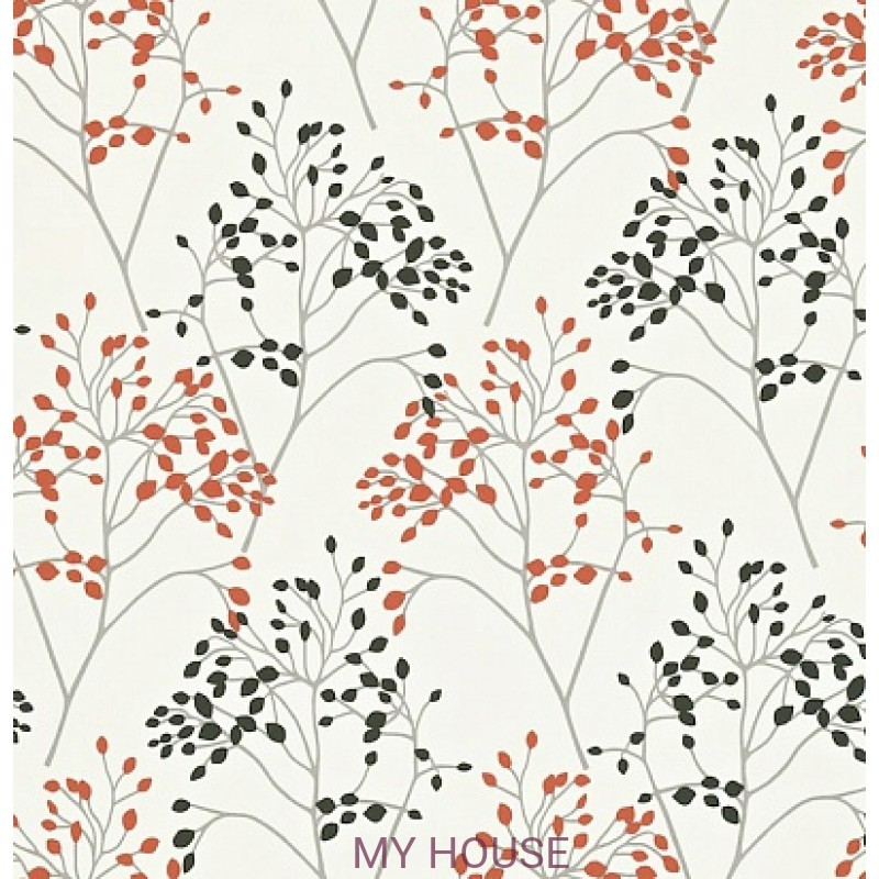 Обои Madison 212837 Pippin Charcoal/Coral Sanderson