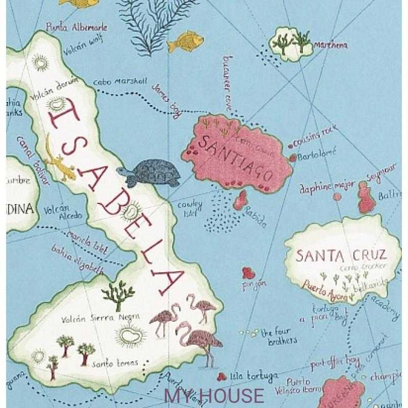 Обои Voyage of Discovery 213366 Galapagos Azure Sanderson