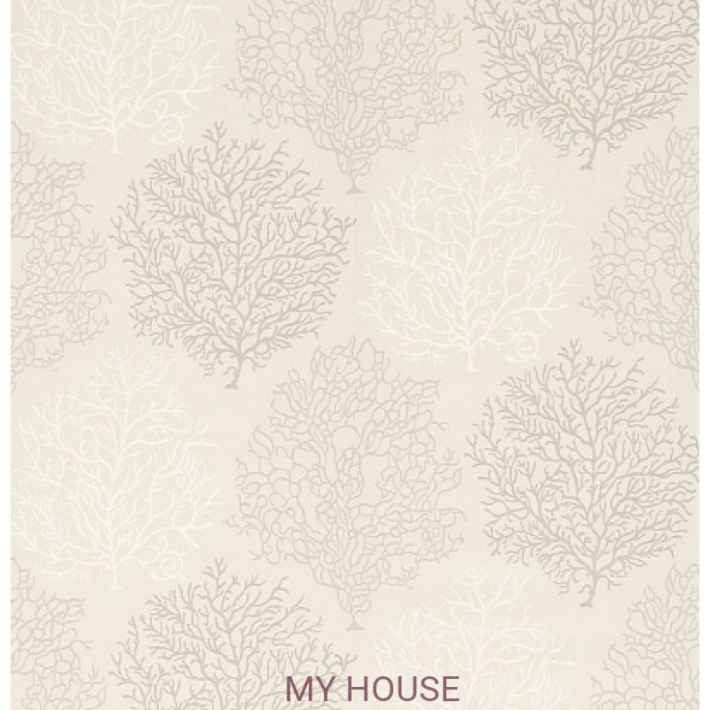 Обои Voyage of Discovery 213395 Coral Reef Linen/Taupe Sanderson