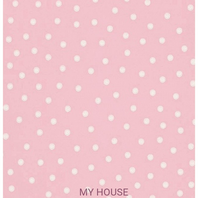 Обои Emma Bridgewater 213616 Polka Dot Rose Pink Sanderson