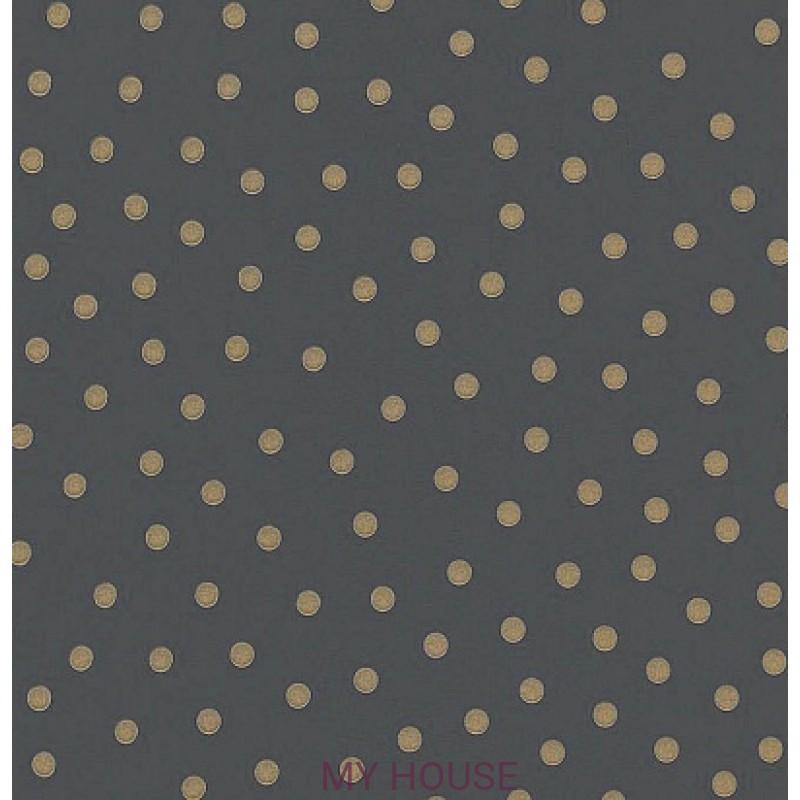 Обои Emma Bridgewater 213618 Polka Dot Charcoal Sanderson