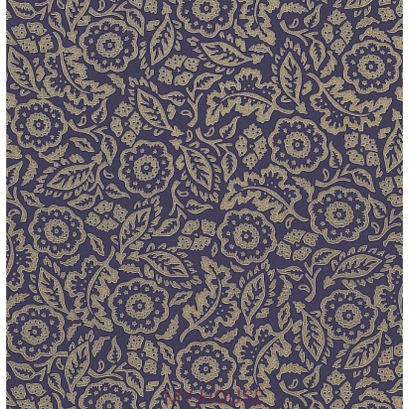 Обои Emma Bridgewater 213621 Floral Damask Purple Sanderson