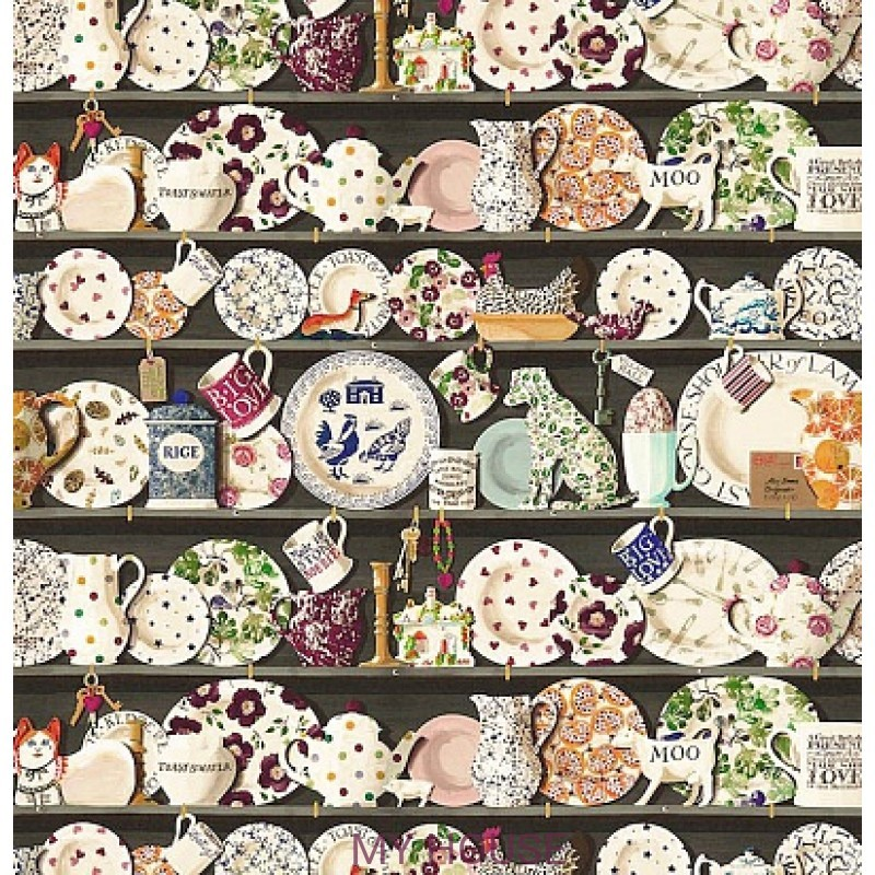 Обои Emma Bridgewater 213650 The Dresser Black/multi Sanderson
