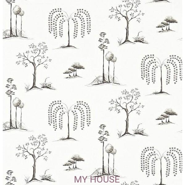 черно-белые обои с деревьями 213723
