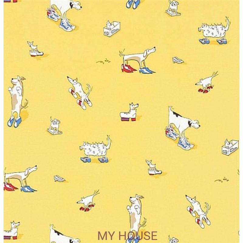 Обои Abracazoo 214012 Dogs in Clogs Yellow Sanderson